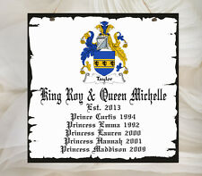 Beautiful Personalised Family Coat of Arms Sign Shabby Present Chic Unique