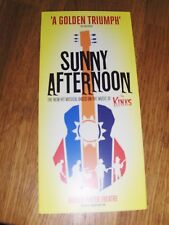 SUNNY AFTERNOON MUSICAL LONDON PUT WITH TICKET LEAFLET FLYER MAKES A GREAT GIFT