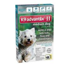 Bayer K9 Advantix II Flea Prevention for Medium Dogs 11-20 lbs - 6 Pack