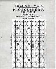 TRENCH MAP OF PLOEGSTEERT (GEOLOGICAL)