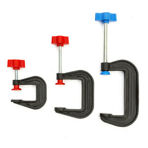 3x Mini G Clamp 1 / 2 / 3 Inch Opening Strong Vice Grip Holder DIY Hobby Project