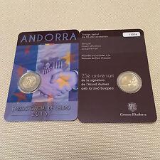 Andorra 2 € Euro GM 2015 BU im Blister, 25 Jahre Zollunion Zollabkommen mit EU