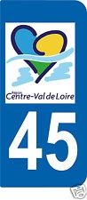 1 Sticker plaque AUTO adhésif département 45