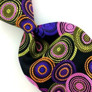 Robert Talbott Tie Best Of Class Vibrant Multi Color Circles Silk New