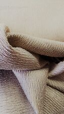 TARNISHED GOLD CRINKLED  WOVEN TEXTURE SOLID UPHOLSTERY FABRIC