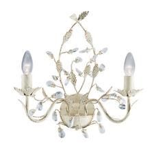 Searchlight 2492-2CR Almandite Cream Gold Finish 2 Light Wall Bracket Crystal