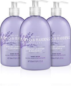 Baylis & Harding English Lavender and Chamomile Hand Wash, 500 ml, Pack of 3 May