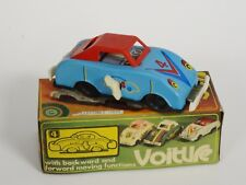 RARE VOITURE BLUE ROADSTER SEDAN CAR TIN FRICTION TOY MS 040 CHINA ~ 5.5""