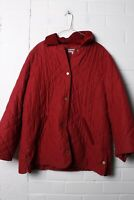 M&S Marks & Spencers Womens Quilted Winter Coat - Red - Size 20 - (L-Q1)
