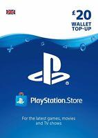 Playstation Network Card PSN Key 20 Pound [UK] - PS3/ PS4/ PS Vita - UK account