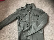 Bench Women's Distressed Grey Jacket Size Small Girls
