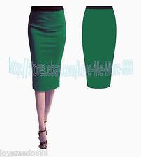 Womens Tight Fitted Slimming Sheath Shift Wear Work Pencil Midi Skirt Dress 2XL