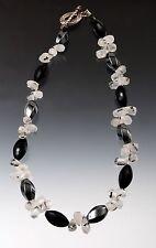 Onyx Hematite Tourmaline Quartz Necklace Sample Sale - Bess Heitner