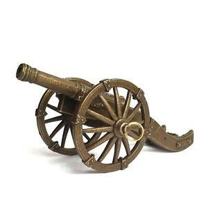 Artillery Cannon Weapon Military Figurine Metal Model 40 mm
