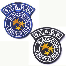 2 PCS Resident Evil Raccoon City S.T.A.R.S. RACCOON POLICE DEP EMBROIDERED PATCH