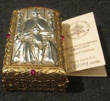 Vatican Library Rosary Box Sculpted Holy Mother Virgin Mary Limited Edition