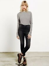 2017 NWT WOMENS VOLCOM HIGH RISE LADY PANTS $65 5 charred crop jeans