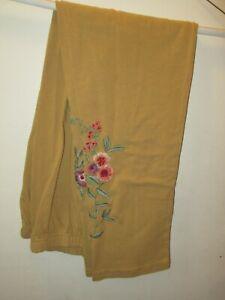 Vintage APRIL CORNELL Tapestry Leggings XL Beige Floral Embroidery NWOT!