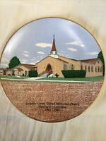 "WW Art Studio Summer Grove United Methodist Church Porcelian Collector Plate 10"""