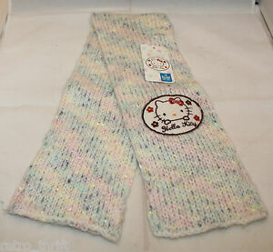 Sanrio Japan Hello Kitty Multi Color Scarf 12x70 cm Long Sold in Japan Only 2010