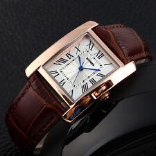 Casual SKMEI Wrist LED Fashion Sport Leather women's Watch Quartz Gift Rectangle