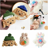 for AirPods 1st 2nd Gen 3/Pro 3D Cartoon Teddy Animal Furry Case Soft Fur Cover