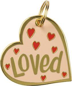 Loved Heart Dog Collar Charm
