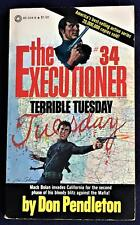 Don Pendleton / THE EXECUTIONER #34 TERRIBLE TUESDAY First Edition 1979