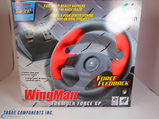 LOGITECH WINGMAN FORMULA FORCE GP RACING STEERING WHEEL + PEDALS USB PC