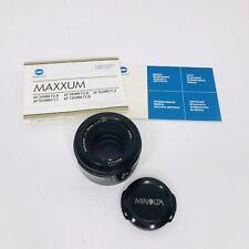 Minolta Maxxum 50mm F1.7 AF Lens - Sony Alpha / Minolta Maxxum A Mount - Working