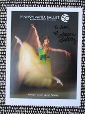 LAUREN FADELEY BALLERINA *HAND SIGNED PHOTO* Principal Dancer PA & MIAMI BALLET
