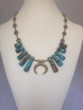 "Dakota Stones Turquoise and Bronzite Ladder Pendants Necklace. 18"""