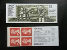 Fh35 Prime Ministers Clement Attlee Ncb Miners £1 Machin Machine Stamp Booklet