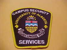 CANADA UNIVERSITY OF ALBERTA SECURITY SERVICES PATCH
