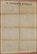 IL GIORNALE D'ITALIA 1 FEBBRAIO 1903 UNGHERIA PORTICI ERUZIONE VESUVIO BITONTO