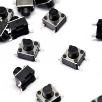 100PCS 6×6×6mm Tact Tactile Push Button Switch SMD-4Pin