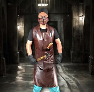 Scary Butcher Kit Halloween Horror Fancy Dress Costume Mens Hostel Surgeon Adult