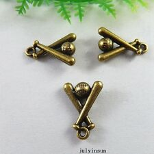 Vintage Bronze Alloy Mini Baseball Bat Charms Jewelry Crafts Findings 38x 51229