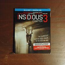 Insidious: Chapter 3 (2015 Blu ray) - Horror/Suspense Movie W/Slip Cover