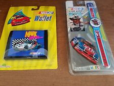 AWESOME VINTAGE NIP DIGITAL WATCH & WALLET OFFICIAL NASCAR RACING COLLECTABLES