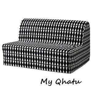 IKEA LYCKSELE COVER Slipcover for Sleeper Sofa Ebbarp Black-white New 103.245.94
