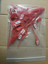 50 10 Inventory Number Tags Truck Trailer Security Seals Sequently Numberd