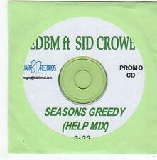 (FG274) EDBM ft Sid Crowe, Seasons Greedy - DJ CD