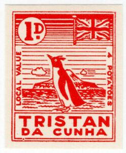 (I.B) Tristan da Cunha Postal : Local Post 1d (Penguin)