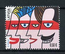 Letonia 2017 estampillada sin montar o nunca montada mi familia 1v Set dibujos sellos