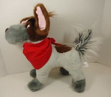 """Disney Oliver and Company 12"""" DODGER THE PLUSH DOG w Red Bandanna Sears 1988"""
