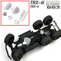 Metal Front Rear Chassis Protective Plate for 1/10 TRAXXAS TRX6 Benz G63 RC Car