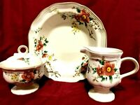 "Mikasa Heritage F2010 Capistrano 4 Piece Set Creamer/Sugar & 10 "" Vegetable Bowl"