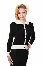 No Pattern Collared Sleeveless Jumpers & Cardigans for Women