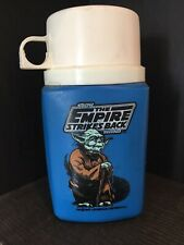 Vintage Star Wars The Empire Strikes Back 1980 thermos with yoda